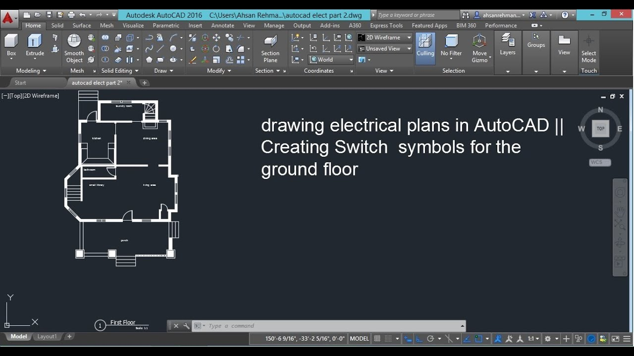 drawing electrical plans in autocad creating switch symbols for [ 1280 x 720 Pixel ]