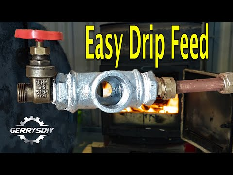 Waste Oil Burner EASY 5 minute drip feed oil system