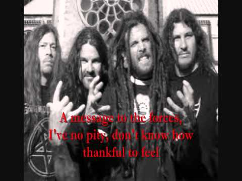 Snap your fingers snap your neck - Prong - lyrics onscreen