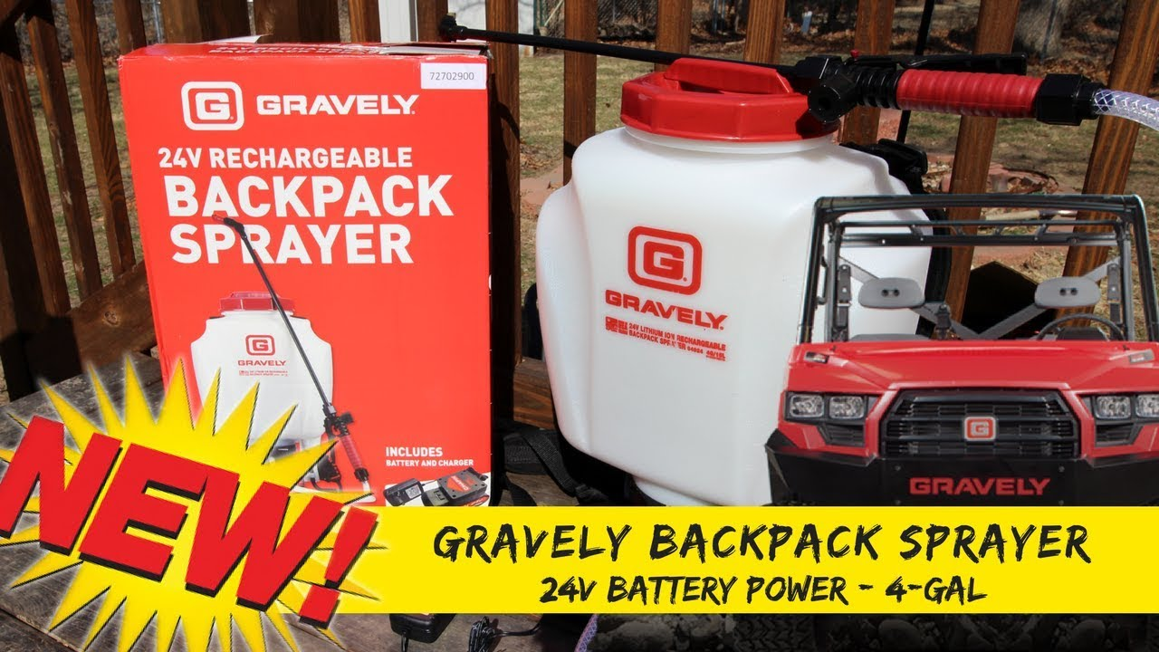 Lawn Care New GRAVELY Backpack Sprayer | Battery Powered 24v 4-GAL Sprayer