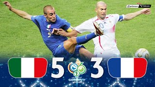 Italy 1 (5) x (3) 1 France ● 2006 World Cup Final Extended Goals & Highlights + Penalties HD