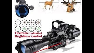 AoTop AR15 Scope Combo with Red Laser