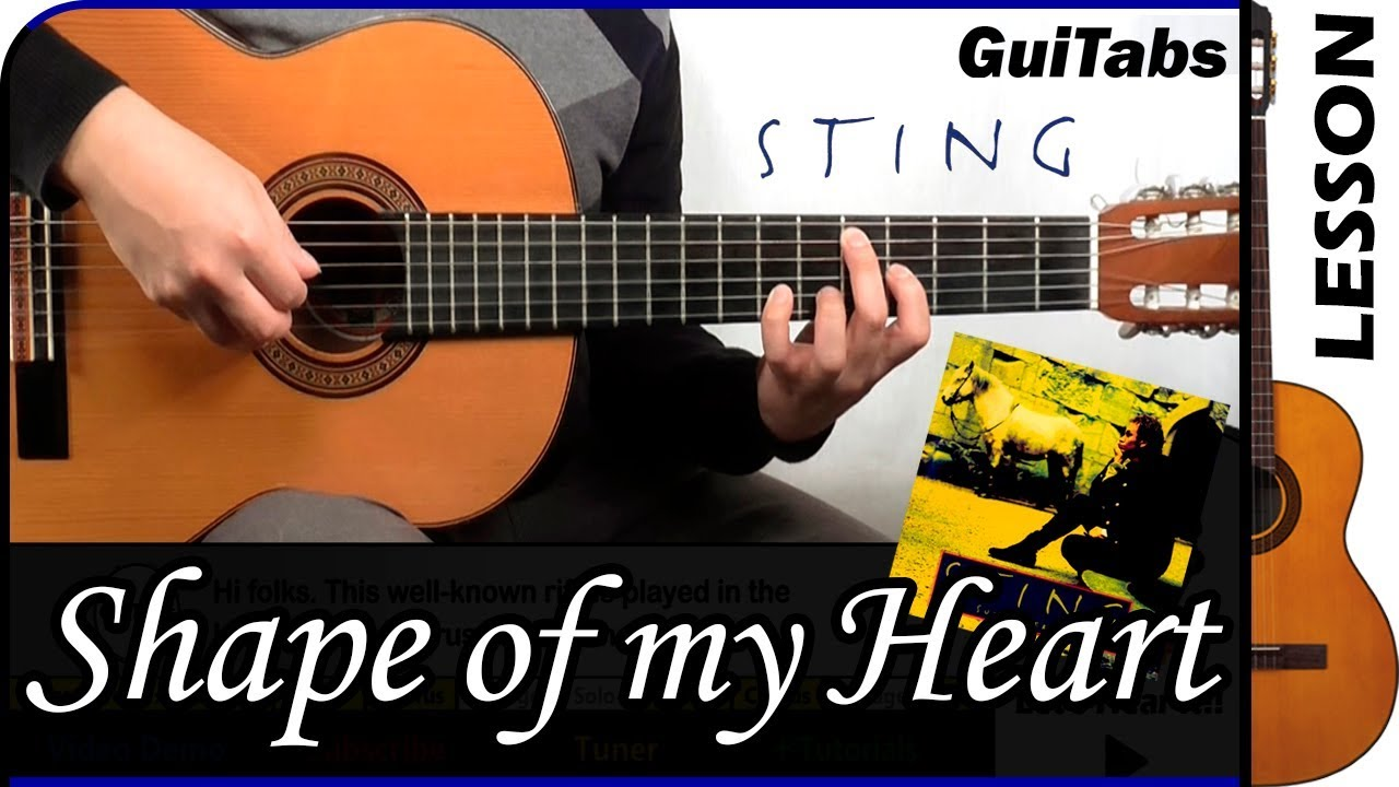 """Sting """"shape of my heart"""" sheet music notes, chords 