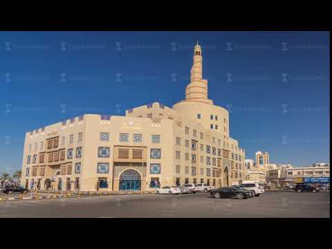 Qatar Islamic Cultural Centre timelapse hyperlapse in Doha, Qatar, Middle-East