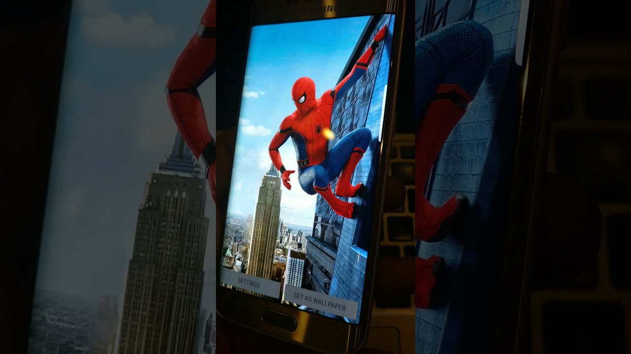 3d wallpapers | spiderman homecoming | best app | android live