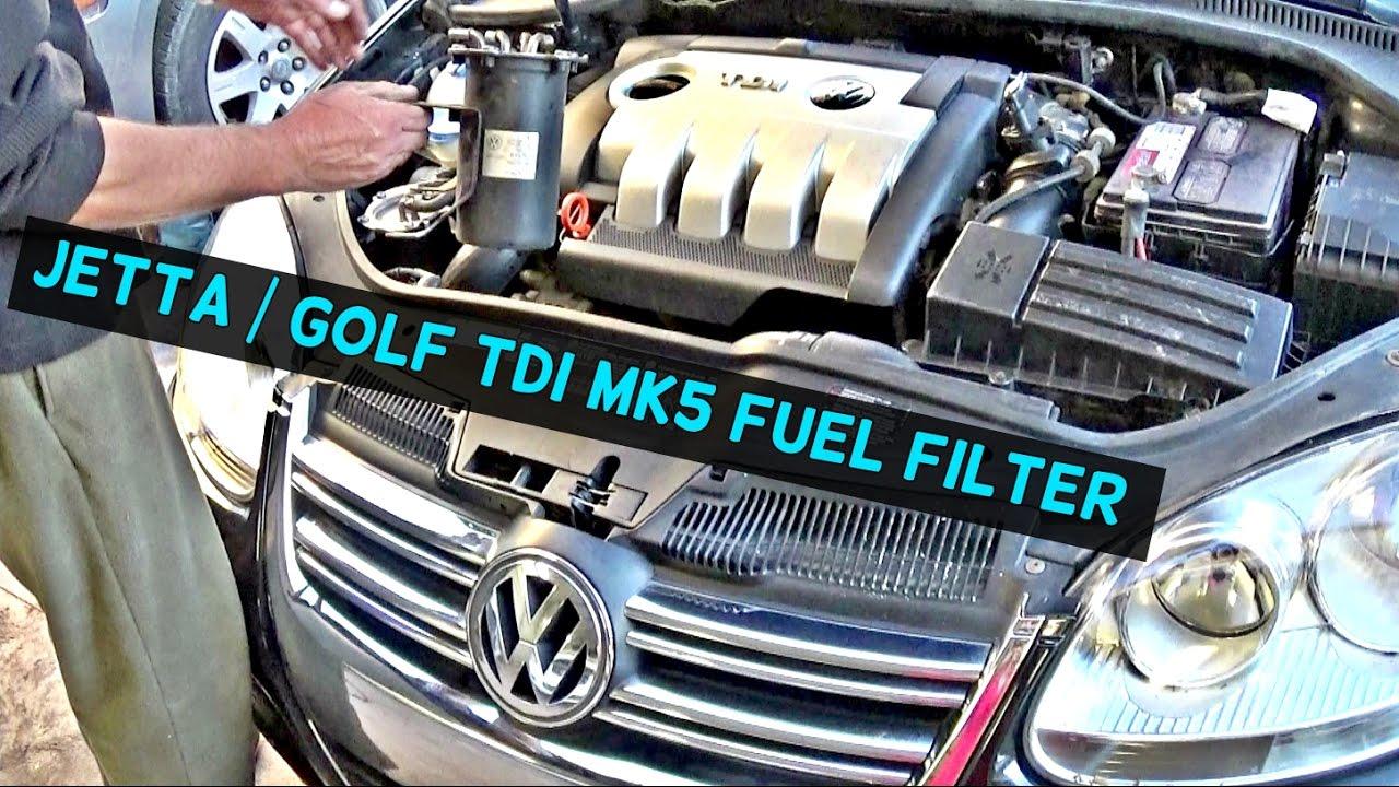 vw jetta tdi mk5 diesel fuel filter replacement vw golf tdi [ 1280 x 720 Pixel ]