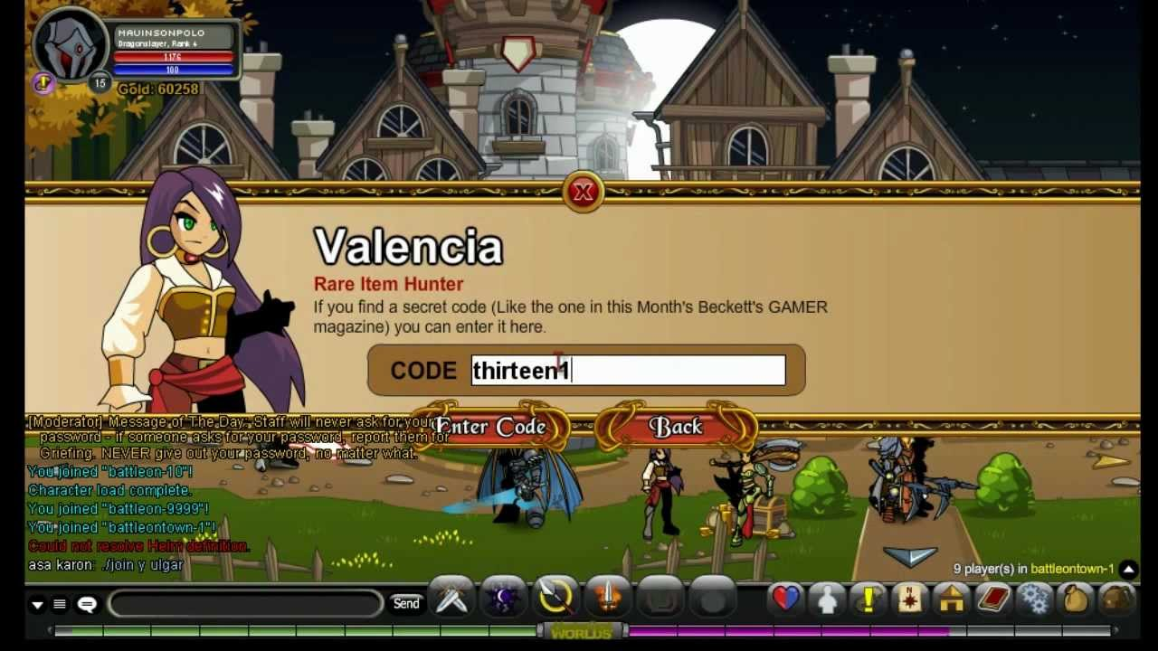 Adventure Quest Worlds: Valencia's Special Codes | Doovi