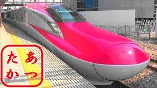 【美しすぎる あきたこまち!】E6系 秋田新幹線 こまち 秋田駅 Japanese Bullet Train - Shinkansen