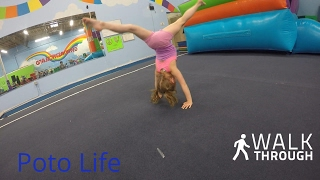 5 year old teaches how to do a gymnastics  kick over-by Brea