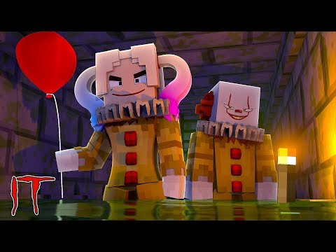 Minecraft IT - HARLEY QUINN HAS BEEN TURNED INTO IT THE CLOWN BY PENNY WISE IN THE SEWERS!!