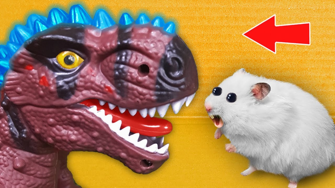 🦖 GODZILLA - Hamster Maze with Traps ☠️[OBSTACLE COURSE]