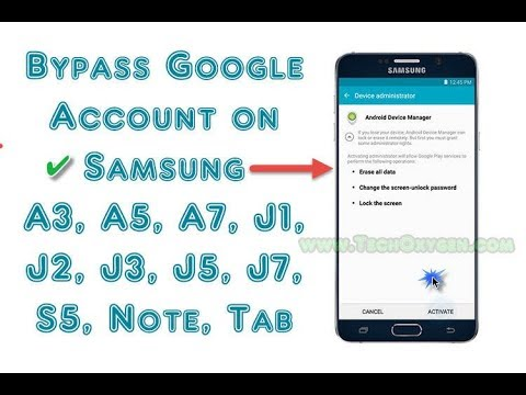 Bypass Google Account Samsung NO PC, NO SIM, NO SOFTWARE New 2017