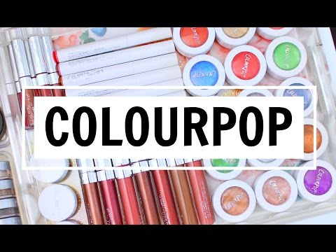 HUGE COLOURPOP HAUL + NEW PRODUCTS!