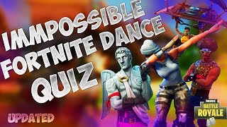 IMPOSSIBLE FORTNITE DANCE QUIZ! Can you get the all?