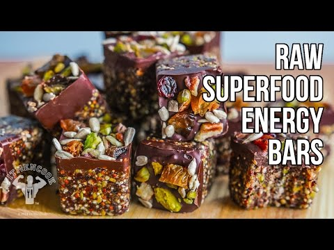 Raw Superfood Energy Bars  / Barras Energéticas con Súper Alimentos Crudos