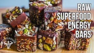Raw Superfood Energy Bars  / Barras Energéticas con Súper Alimentos Crudos
