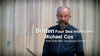 Бриттен, Четыре интерлюдии моря, видео урок первой флейты BBC Symphony Майкла Кокса
