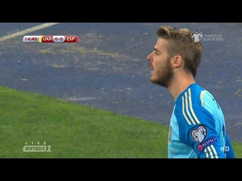 David De Gea vs Ukraine ( Away ) 15 - 16 All Saves ( 12/10/2015 ) by Vurlovski