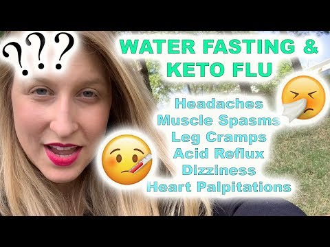 Water Fasting: You're Not Getting Sick! Keto Flu + Acid Reflux + Headaches + Sugar Withdrawal