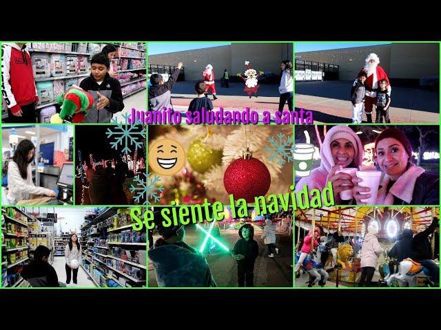 Viendo luces de Navidad juanito fue a saludar a santa Dec-16-2018