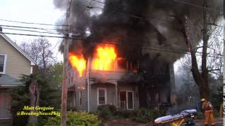Man dies in Woonsocket, RI 3 alarm house fire