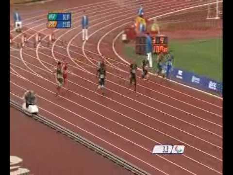 Oscar Pistorius - 100m T44 Final - Beijing Paralympics