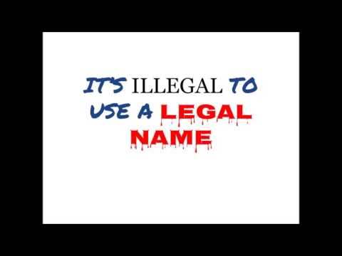 Attorney Robert Booker: It is illegal to use legal names / birth certificates.