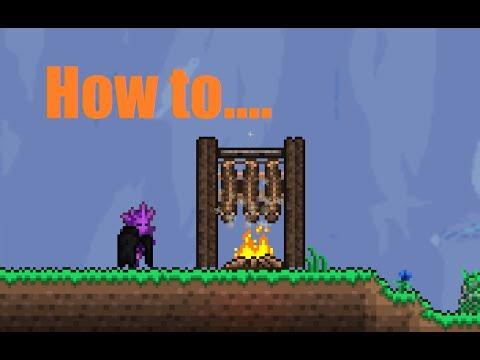 Terraria Props How To Make A Fish Rack Youtube
