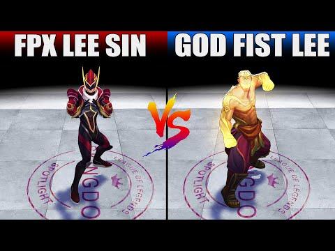 FPX Lee Sin vs God Fist Lee Sin Skin Comparison (League of Legends)