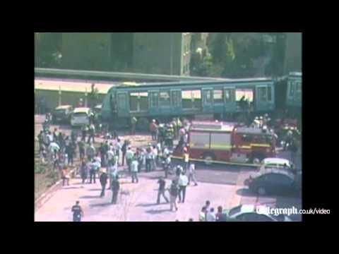Chile train crash caught on CCTV