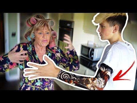 Tattoo Prank On My Mom!! (Aged 15) **GONE VIOLENT**