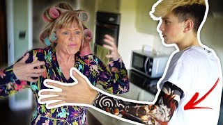 Tattoo Prank On My Mom!! (Aged 15) **GONE VIOLENT**