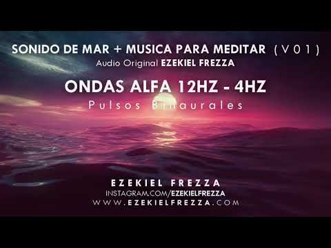SONIDO DE MAR, ONDAS ALFA 12 Hz, Binaurales, MEDITACIÓN, RELAJACIÓN, MELATONINA, GLÁNDULA PINEAL