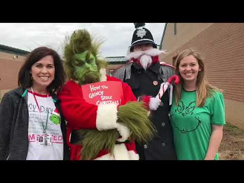 The Grinch Visits Mooreville Elementary School