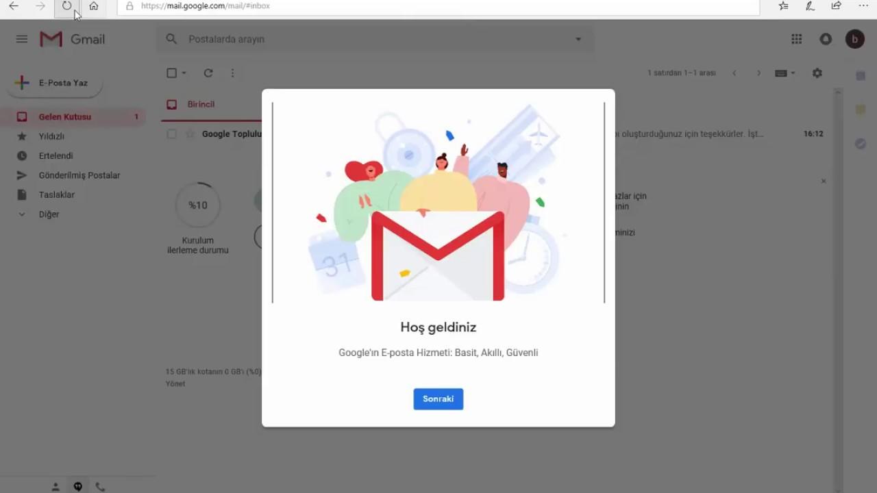 Windows Bilgisayarda Gmail Hesabı Açma