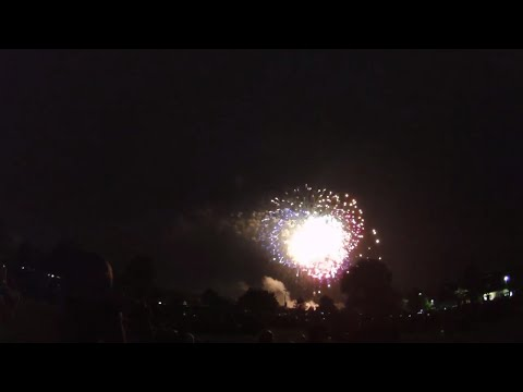 July 4th Fireworks Display in Apple Orchard Park in Bartlett