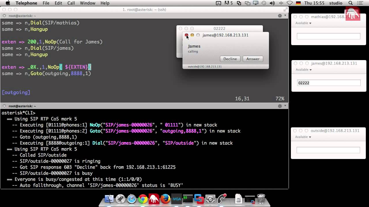 Webrtc tutorial using sipml5 asterisk project asterisk project.