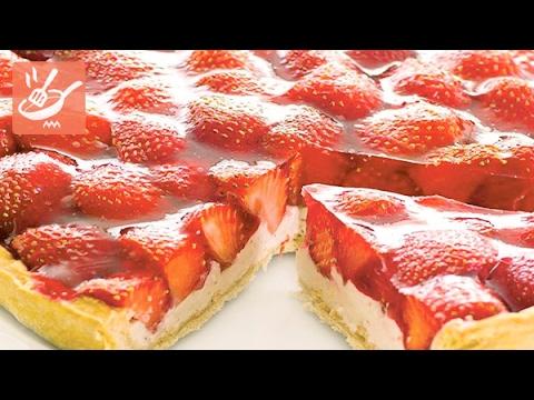 Crostata Di Fragole E Yogurt Spadellandia Youtube