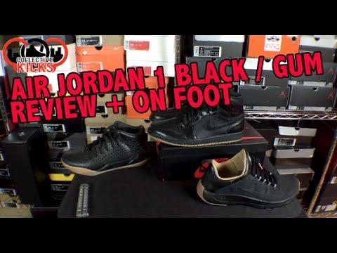 f103e7dc241 Nike Air Jordan 1 OG Black   Gum Review + On Foot   Comparison