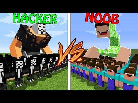 Minecraft Battle: NOOB Vs PRO: HACKER ARMY Vs NOOB ARMY In Minecraft / Animation