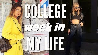 COLLEGE WEEK IN MY LIFE | mini hauls, youtube events, + more