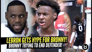 LeBron James GETS HYPE Watching Bronny Jr Almost POSTERIZE Defender!!! Bronny Is FEARLESS!