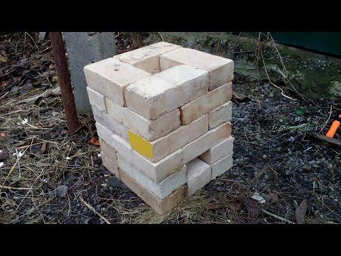 24 Brick Rocket stove / Ракетная печь из 24 кирпичей (slideshow)