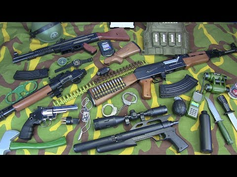 Military Guns Toys - Box Of Toys ! Toys Guns & Equipment / Toys For Kids