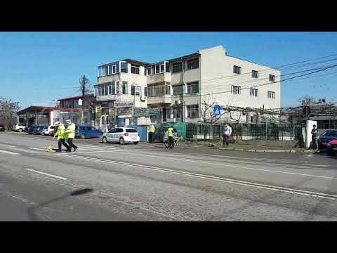 Accident rutier în Constanța, pe bulevardul Aurel Vlaicu. Un pieton a fost rănit