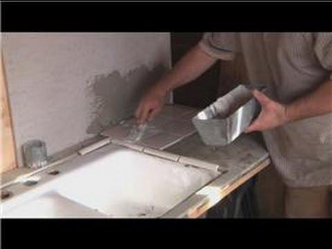 Kitchen Tile Basics How To Grout Kitchen Tile Youtube