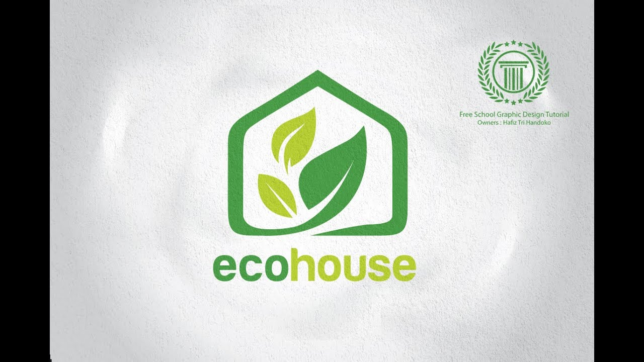 House design logo - Eco House Logo Design Tutorial How To Design A Logo In Adobe Illustrator Cs6 Youtube