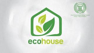 Eco House Logo Design Tutorial - How to Design a Logo in Adobe illustrator CS6