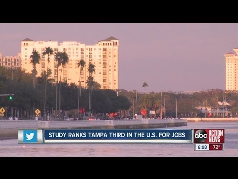 A New Study Ranks Tampa Third In US For Jobs