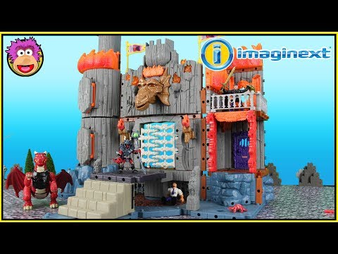 Imaginext Dragomont Castle - RetroReview - Imaginext Dragon Fortress Castle Knight Medieval Playset